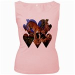 3 Dimention Kingdom Animal King Tree Climber Leopard  Women s Pink Tank Top