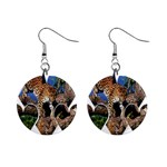 3 Dimention Kingdom Animal King Tree Climber Leopard  1  Button Earrings