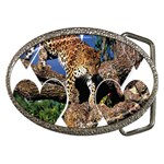 3 Dimention Kingdom Animal King Tree Climber Leopard  Belt Buckle