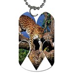3 Dimention Kingdom Animal King Tree Climber Leopard  Dog Tag (Two Sides)
