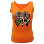 3 Dimention Kingdom Animal King Tree Climber Leopard  Women s Dark Tank Top