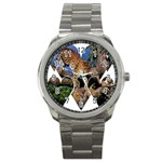 3 Dimention Kingdom Animal King Tree Climber Leopard  Sport Metal Watch