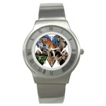3 Dimention Kingdom Animal King Tree Climber Leopard  Stainless Steel Watch