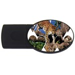3 Dimention Kingdom Animal King Tree Climber Leopard  USB Flash Drive Oval (4 GB)