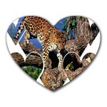3 Dimention Kingdom Animal King Tree Climber Leopard  Mousepad (Heart)