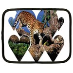 3 Dimention Kingdom Animal King Tree Climber Leopard  Netbook Case (Large)