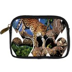 3 Dimention Kingdom Animal King Tree Climber Leopard  Digital Camera Leather Case