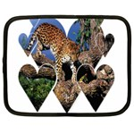 3 Dimention Kingdom Animal King Tree Climber Leopard  Netbook Case (XL)