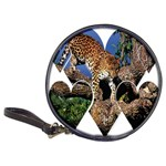 3 Dimention Kingdom Animal King Tree Climber Leopard  Classic 20-CD Wallet
