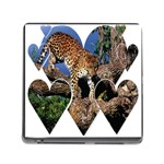 3 Dimention Kingdom Animal King Tree Climber Leopard  Memory Card Reader with Storage (Square)