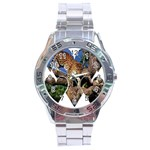 3 Dimention Kingdom Animal King Tree Climber Leopard  Stainless Steel Analogue Men's Watch