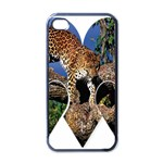 3 Dimention Kingdom Animal King Tree Climber Leopard  Apple iPhone 4 Case (Black)