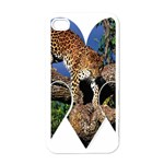 3 Dimention Kingdom Animal King Tree Climber Leopard  Apple iPhone 4 Case (White)