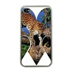 3 Dimention Kingdom Animal King Tree Climber Leopard  Apple iPhone 4 Case (Clear)