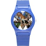 3 Dimention Kingdom Animal King Tree Climber Leopard  Round Plastic Sport Watch Small