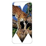 3 Dimention Kingdom Animal King Tree Climber Leopard  Apple iPhone 5 Seamless Case (White)