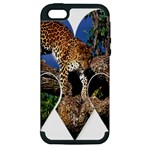 3 Dimention Kingdom Animal King Tree Climber Leopard  Apple iPhone 5 Hardshell Case (PC+Silicone)