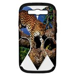 3 Dimention Kingdom Animal King Tree Climber Leopard  Samsung Galaxy S III Hardshell Case (PC+Silicone)