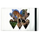 3 Dimention Kingdom Animal King Tree Climber Leopard  Apple iPad 3/4 Flip Case