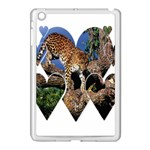 3 Dimention Kingdom Animal King Tree Climber Leopard  Apple iPad Mini Case (White)
