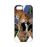 3 Dimention Kingdom Animal King Tree Climber Leopard  Apple iPhone 5 Classic Hardshell Case (PC+Silicone)