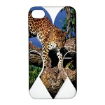 3 Dimention Kingdom Animal King Tree Climber Leopard  Apple iPhone 4/4S Hardshell Case with Stand