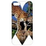 3 Dimention Kingdom Animal King Tree Climber Leopard  Apple iPhone 5 Hardshell Case with Stand