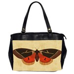 Vintage Moth  Oversize Office Handbag (Two Sides)