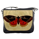 Vintage Moth  Messenger Bag