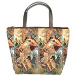 Autumn By Alfons Mucha 1896 Bucket Bag