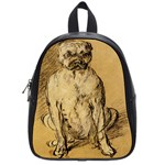 Study Of A Bulldog By Thomas Gainsborough School Bag (Small)