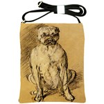Study Of A Bulldog By Thomas Gainsborough Shoulder Sling Bag