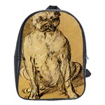 Study Of A Bulldog By Thomas Gainsborough School Bag (XL)