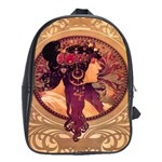 Donna Orechini By Alphonse Mucha School Bag (Large)