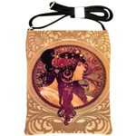 Donna Orechini By Alphonse Mucha Shoulder Sling Bag