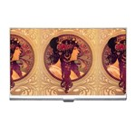 Donna Orechini By Alphonse Mucha Business Card Holder