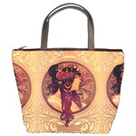 Donna Orechini By Alphonse Mucha Bucket Bag