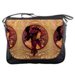 Donna Orechini By Alphonse Mucha Messenger Bag