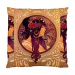 Donna Orechini By Alphonse Mucha Cushion Case (Two Sides)