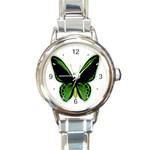 BirdwingButterflyMale_mirror Round Italian Charm Watch
