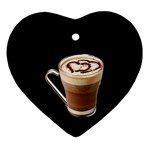 Having A Cup Of Love  Ornament (Heart)