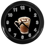 Having A Cup Of Love  Wall Clock (Black)
