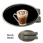 Having A Cup Of Love  Money Clip (Oval)