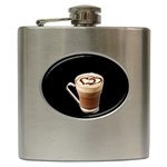 Having A Cup Of Love  Hip Flask (6 oz)