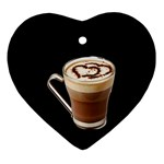 Having A Cup Of Love  Heart Ornament (Two Sides)