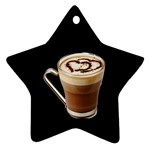 Having A Cup Of Love  Star Ornament (Two Sides)