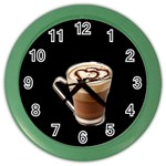 Having A Cup Of Love  Color Wall Clock
