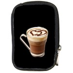 Having A Cup Of Love  Compact Camera Leather Case