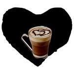 Having A Cup Of Love  19  Premium Heart Shape Cushion