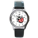 Lady Bug Round Metal Watch